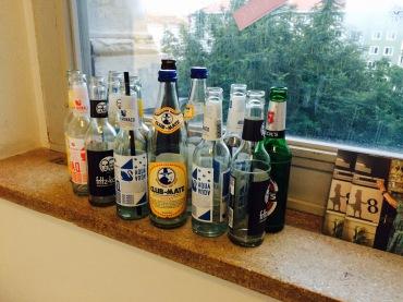 Obligatorische Bierflasschlparade